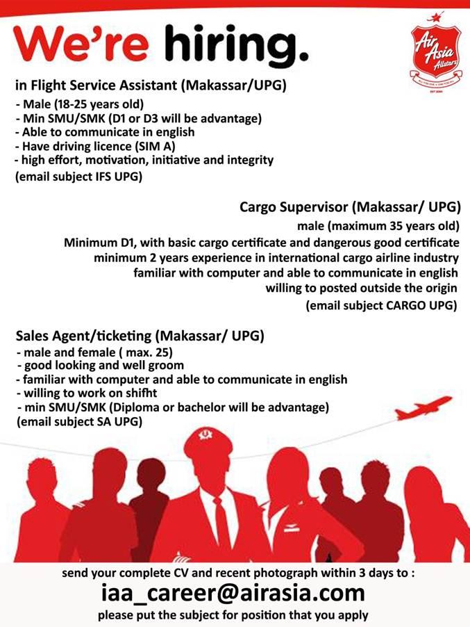 [Makassar] AirAsia Job Vacancies | Forum Pramugari
